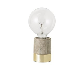 Bloomingville Lampe de table en marbre naturel