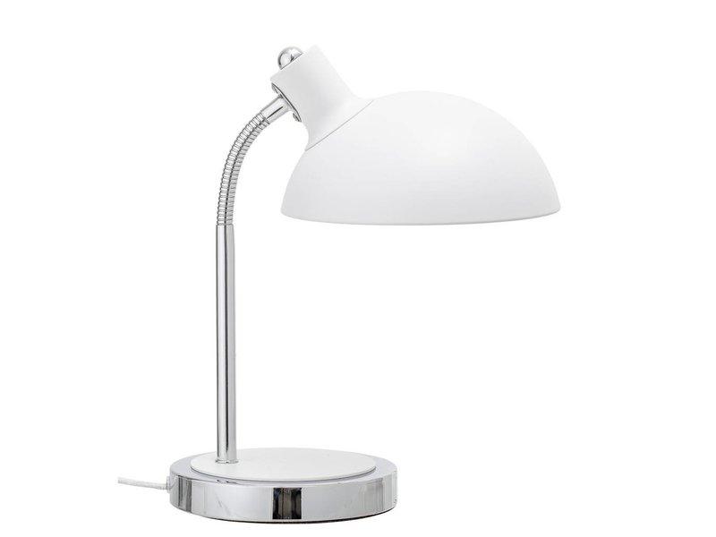 Bloomingville Bordlampe hvidt metal