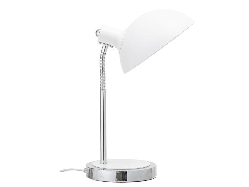 Bloomingville Bordslampa vit metall