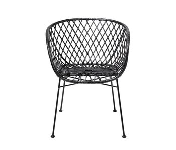 Bloomingville Lounge chair black rattan
