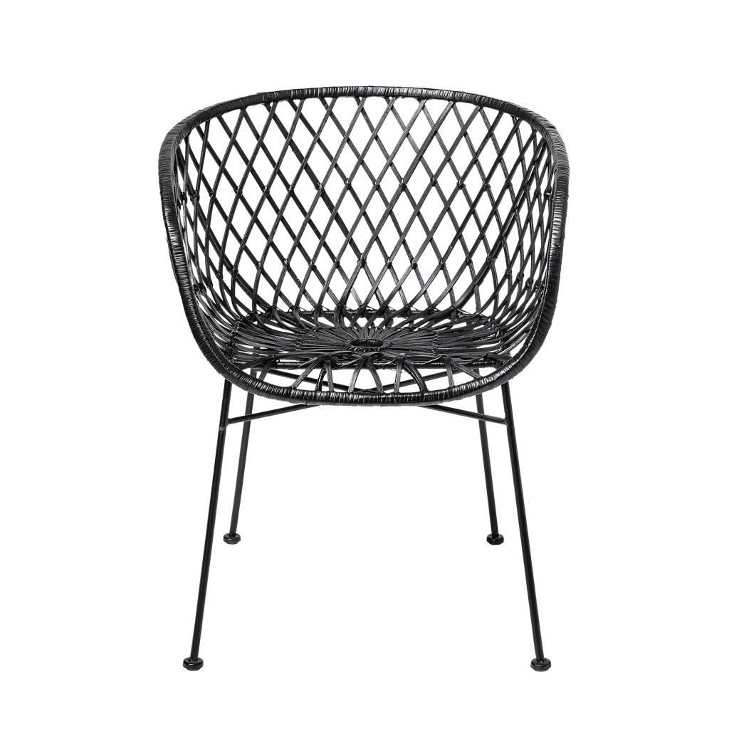 Bloomingville Lounge chair black rattan