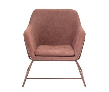 Bloomingville Bass lounge chair pink
