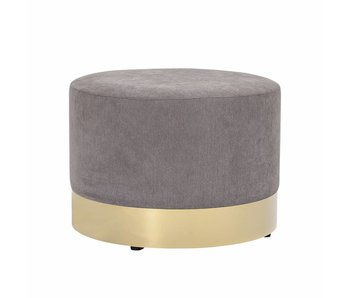 Bloomingville Dia pouf grå polyester