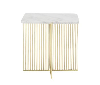Bloomingville Ellis table d'appoint en marbre blanc