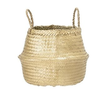Bloomingville Basket of seagrass gold