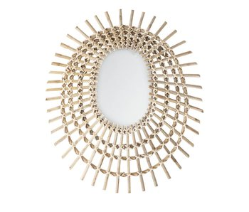 Bloomingville Mirror natural cane