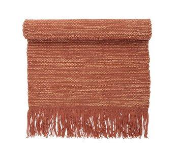 Bloomingville Alfombra de lana naranja 120x60cm.
