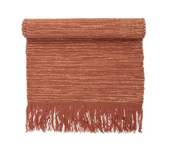 Bloomingville Tæppe orange uld 120x60cm
