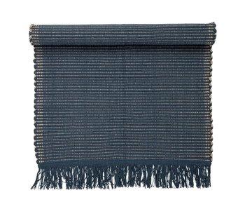 Bloomingville Tapis coton bleu 160x80cm