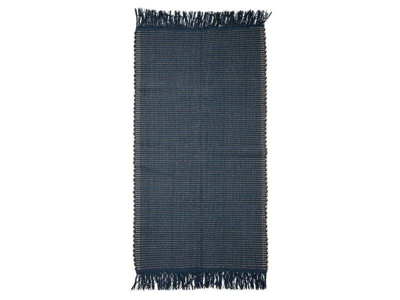 Bloomingville Rug blå bomull 160x80cm