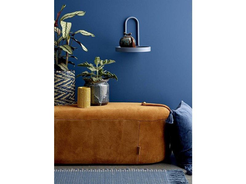Bloomingville Vloerkleed blauw katoen 160x80cm