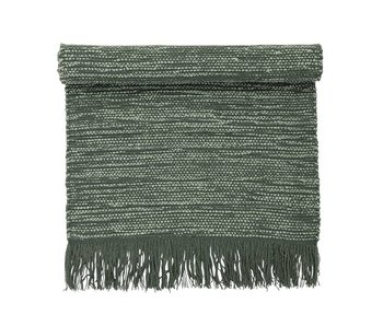 Bloomingville Carpet green wool 120x60cm