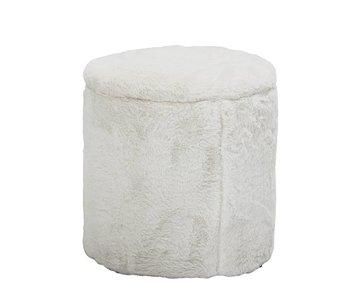 Bloomingville Mini Pouf blanc avec couvercle