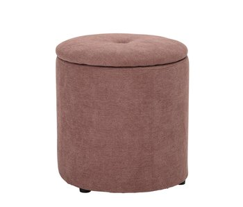 Bloomingville Mini Pouf pink with lid