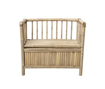 Bloomingville Mini Bamboo bench with storage bin