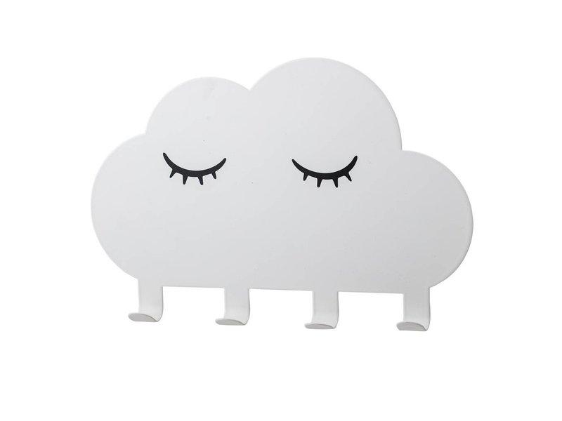 Bloomingville Mini Jassen rek wit metaal wolk
