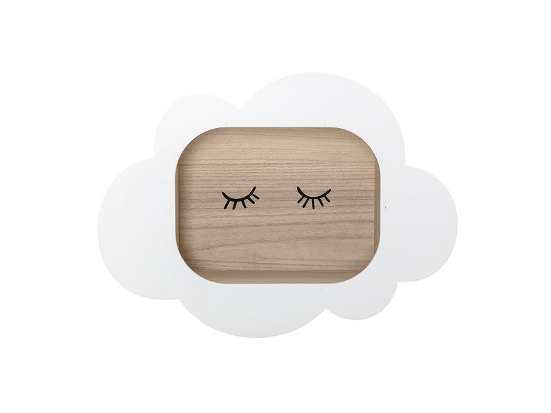 Bloomingville Mini Display kast wolk wit