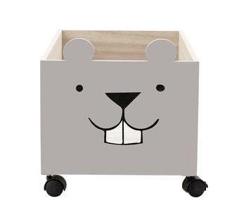 Bloomingville Mini Caja de almacenamiento marrón