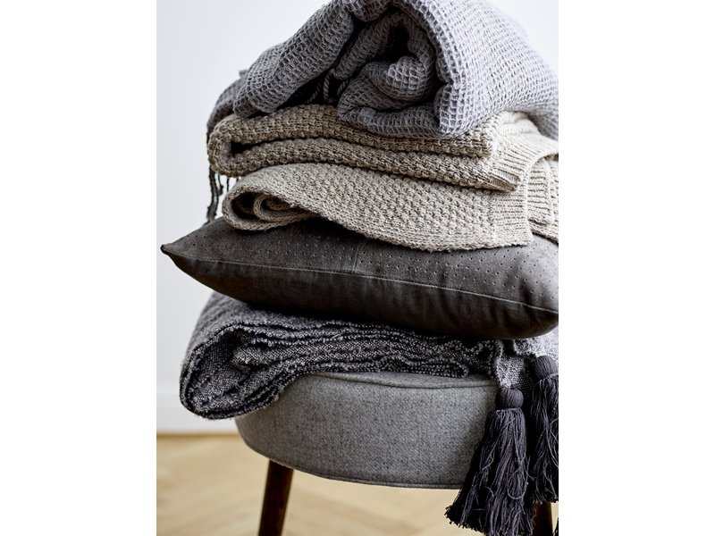 Bloomingville Mini Karierte braune Wolle