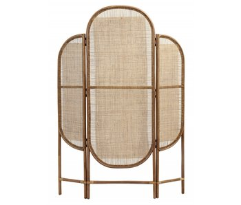 Nordal Rattan folding screen with webbing