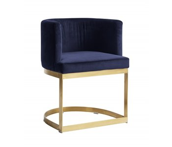 Nordal Dining chair blue velvet