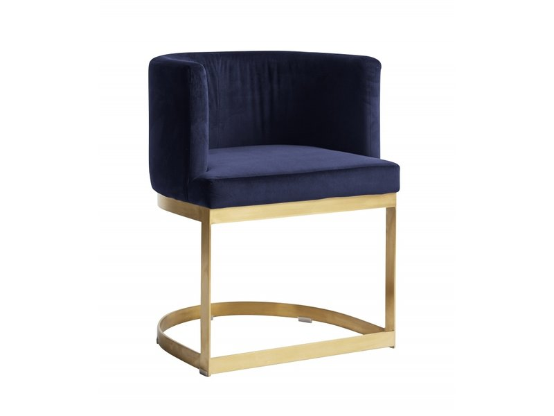 Nordal Dining chair blue velvet