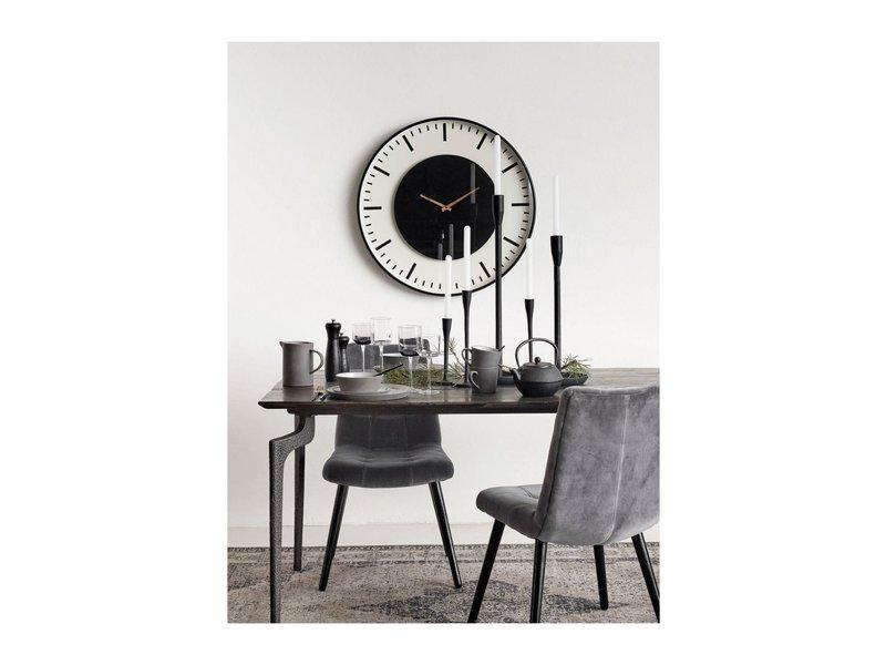 Nordal Chaise de salle à manger en velours gris