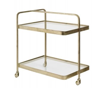 Nordal Trolley Gold mit Glas