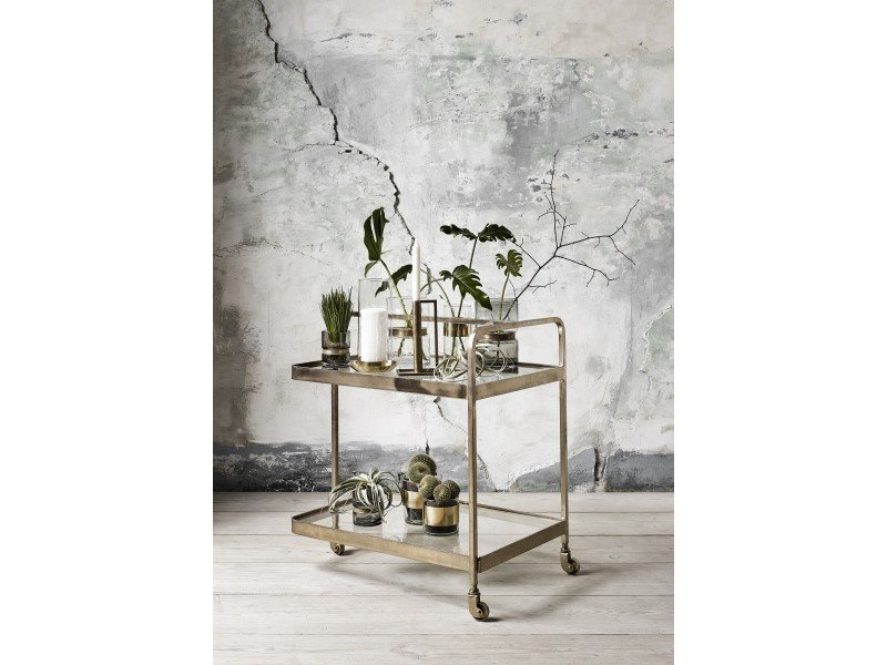 Nordal Trolley gold with glass