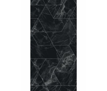 KEK Amsterdam Marble mosaic wallpaper black gray