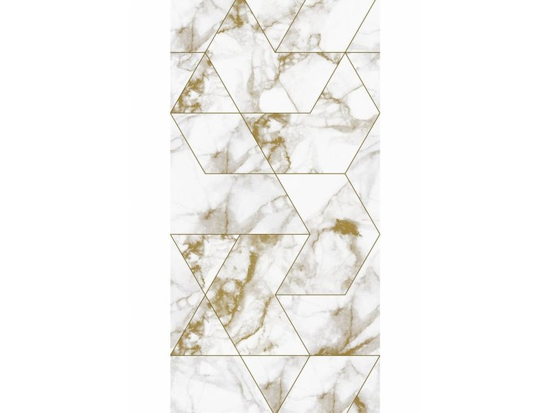 Kek Amsterdam Marble Mosaic Wallpaper Gold Living And Co