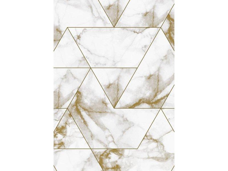 Tavoli Antichi Da Cucina Con Marmo.Kek Amsterdam Marble Mosaic Wallpaper Gold Living And Co