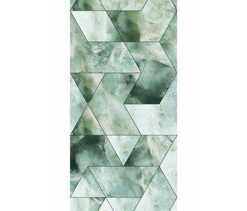 KEK Amsterdam Marble mosaic wallpaper green