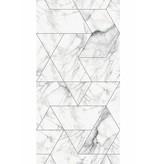 KEK Amsterdam Marmor mosaik tapet vit
