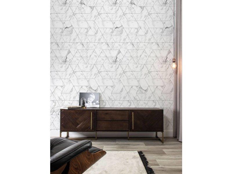 KEK Amsterdam Marble mosaic wallpaper white