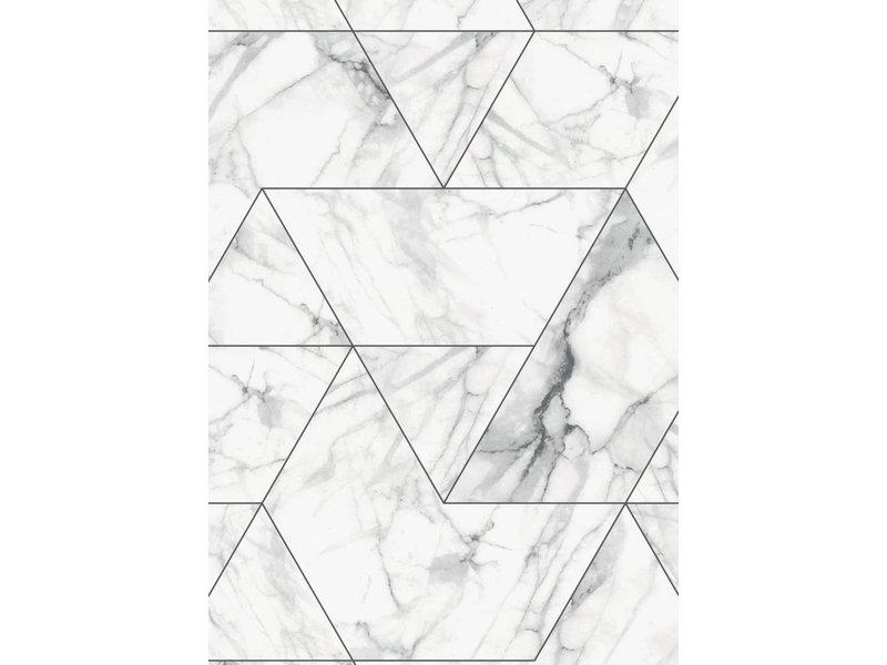 KEK Amsterdam Marmer mosaic behang wit