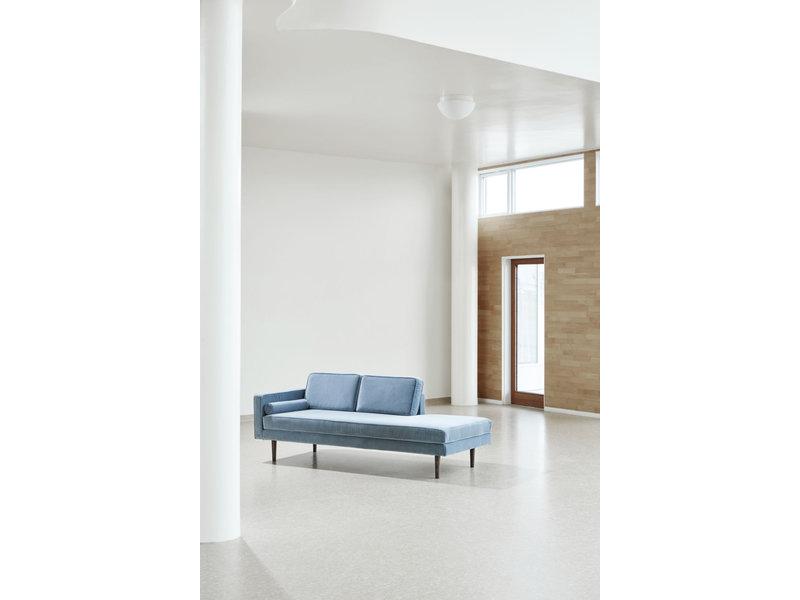 Broste Copenhagen Chaise Longue sofa velvet pastel blue