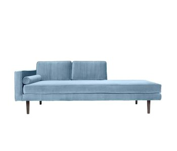 Broste Copenhagen Chaise Longue Sofa Samt Pastellblau