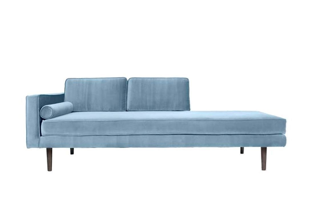 Broste Copenhagen Wind chaise lounge pastel blue - LIVING AND CO.