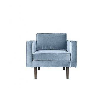 Broste Copenhagen Wind fauteuil velours pastel blauw