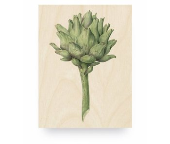 KEK Amsterdam Print on wood Botanical Artichoke