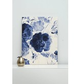 KEK Amsterdam Print on wood Royal Blue Flowers