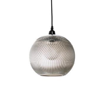 Bloomingville Hængende lampe brunt glas med design