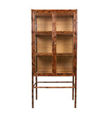 HK-Living Bamboo cupboard with glass doors