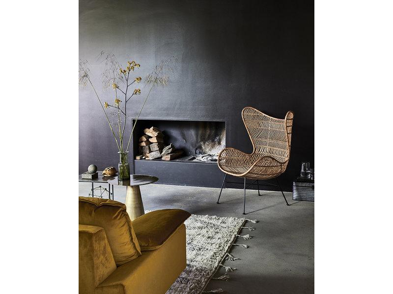 HK-Living Retro sofa 2-seater velvet ocher