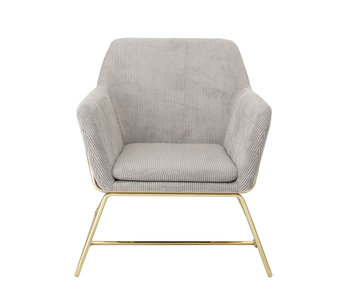 Bloomingville Bass Lounge chair nature - gray