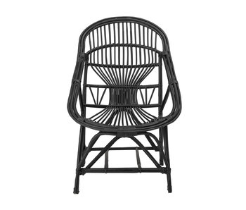 Bloomingville Joline Lounge chair canne - noir