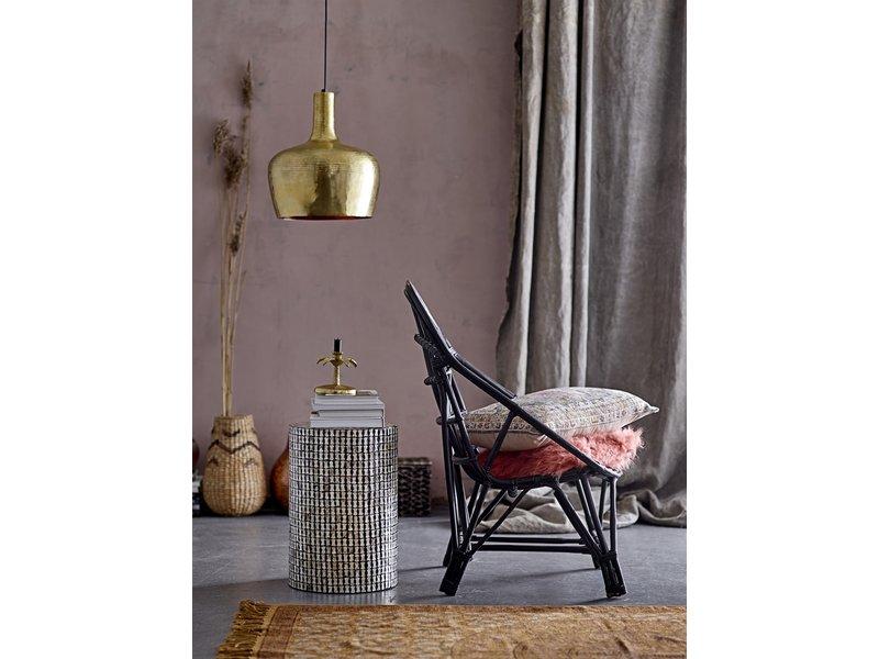 Bloomingville Joline Lounge chair cane - black