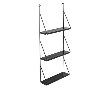 Bloomingville Walter wall rack - black