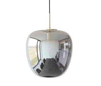 Hubsch Hanglamp smoke glas met messing detail
